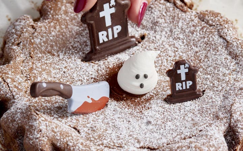 tarte halloween chocolat