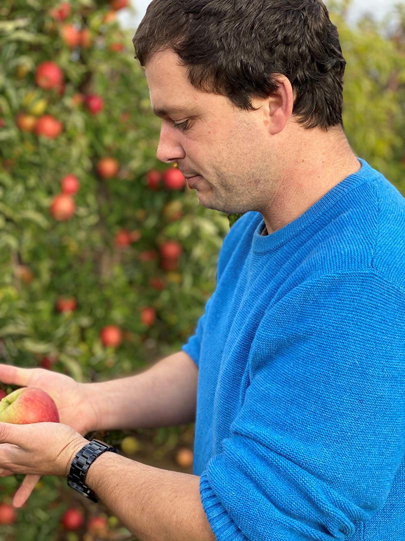 Nicolas Goffin, producteur de pommes