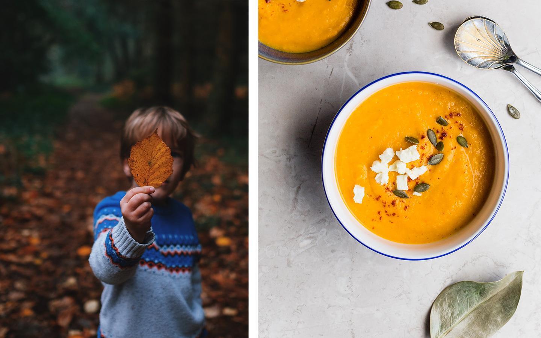 balade en foret et soupe